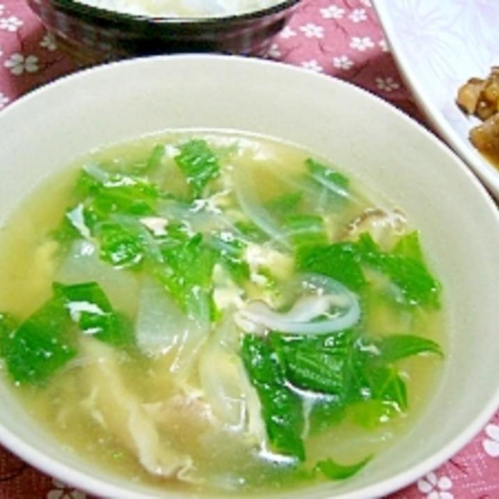 レタスの中華スープ☆普段捨てる外側活用(・ω・)/