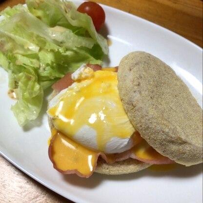 オシャレな朝ごパンができました。 簡単に出来て美味しかったです٩(^‿^)۶
