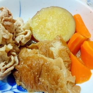 小鉢レシピ◇さつま芋と焼き麩と豚肉の煮物