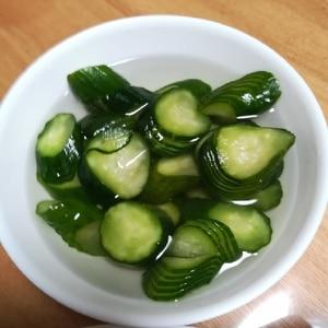 簡単美味しい☆蛇腹きゅうりの中華風漬け