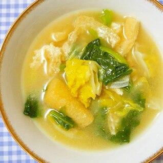 キャベツ・小松菜のお味噌汁♪甘くて美味♪