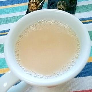 ホッと☆酒粕入りアールグレイミルクティー♪