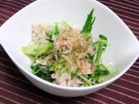 さっぱり豚しゃぶ&水菜のおかかサラダ