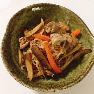 簡単、激ウマ♬ ゴボウと人参、糸こんにゃくの煮物