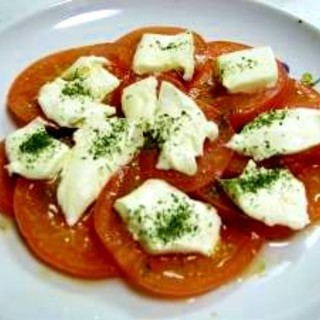 焼きトマトのクリームチーズのせ