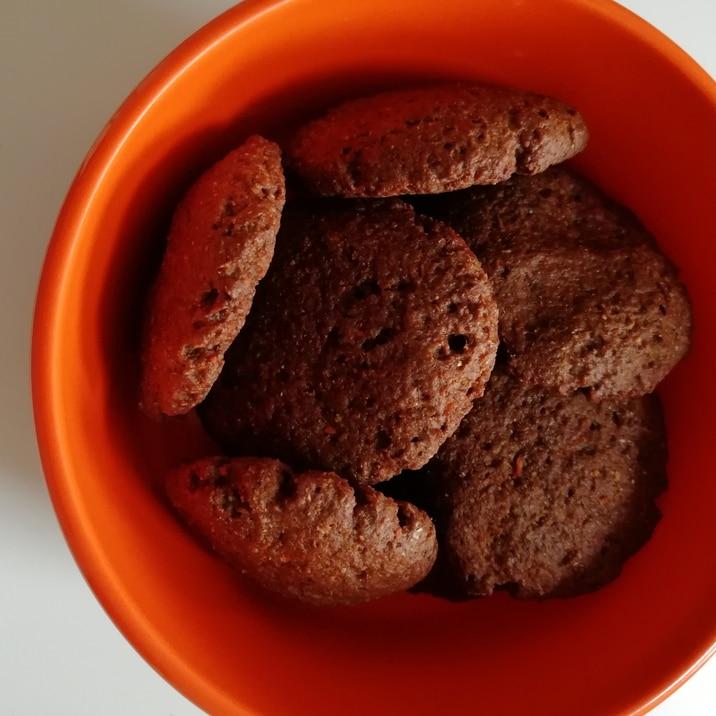 乳卵不使用。しっとりココアキャロットクッキー。