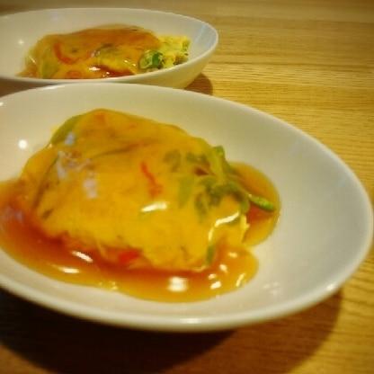 甘酢あんかけが美味しい♡カニカマ入りで美味しくいただきました~(^_^)