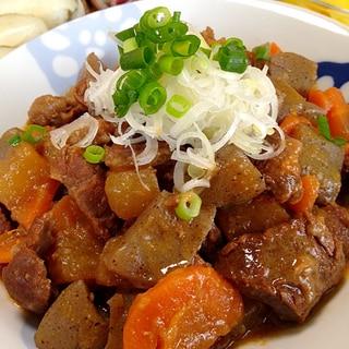 牛すね肉の煮込みです☆白飯の友達♪日本酒の親友w♪
