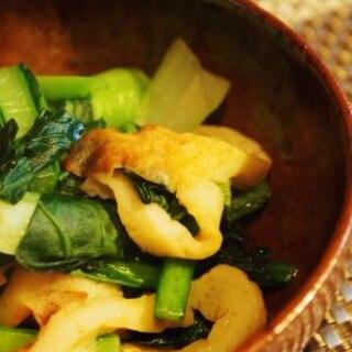 簡単で美味しい*小松菜と竹輪のめんつゆ炒め*