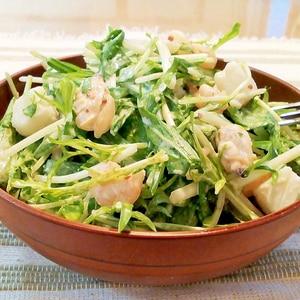 ♪シーフードミックスと水菜のサラダ♪