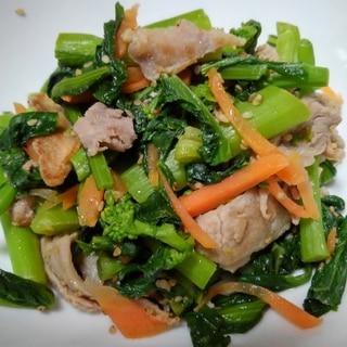 くきたちと豚肉の野菜炒め