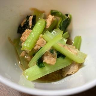 小松菜とツナの炒め煮