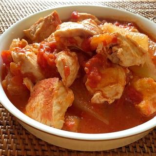 炊飯器で簡単!鶏むね肉と冬瓜のトマト煮