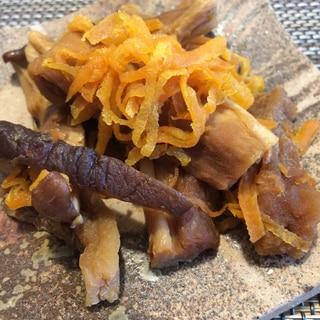 太い切り干し大根の煮物