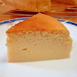 生クリームをミルク+バターに替えてチーズケーキ