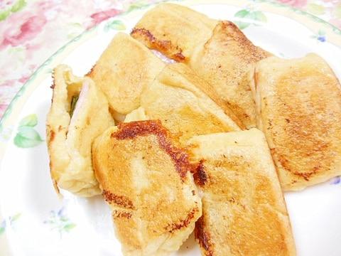 油揚げde❤ハムとチーズとお餅のサンド
