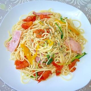 残り野菜の和風スパゲッティ