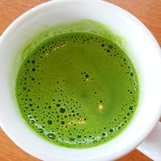 ほっと一息☆練乳と豆乳入り☆抹茶ラテ