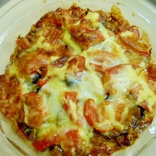 茄子・ズッキーニ・ベーコンのトマトチーズマヨ焼き