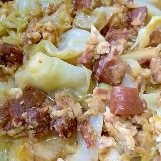 レトルトラフテーの卵とじ