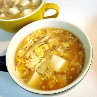 えのきと卵のとろとろ中華スープ♡