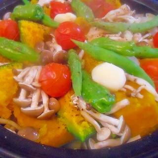 夏野菜でタジン鍋