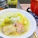 白菜のチキンスープ煮