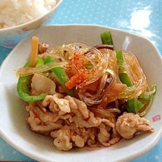 【韓国】モランボン合わせ調味料で作る簡単チャプチェ