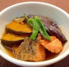生鮭とかぼちゃの揚げ浸し