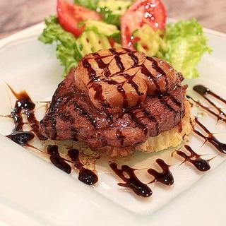 ステーキのフォアグラ添え☆ ロッシーニ風♪