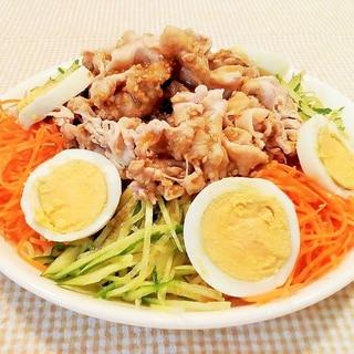 ♪冷しゃぶ風♡豚肉と彩り野菜の冷やし中華♪