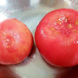 トマトの冷凍保存と簡単に皮をむく方法