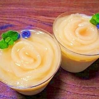 桃のゼリー☆ヨーグルトムース