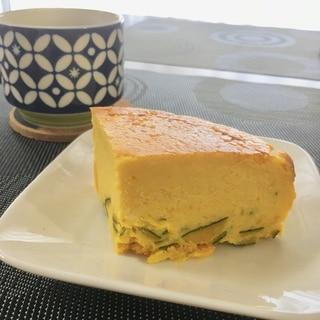 ずぼらさん必見!かぼちゃの皮入りチーズケーキ