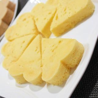 レンジ4分♪スライスチーズ1枚で濃厚チーズ蒸しパン