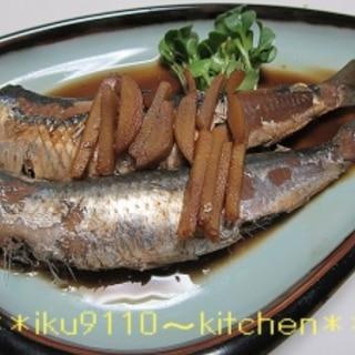 フライパン de 煮魚♪いわしの生姜煮