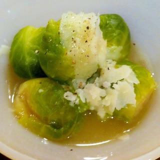 ストウブで芽キャベツの簡単こっくり煮/食べるスープ