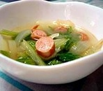 セロリと玉ねぎの辛味スープ