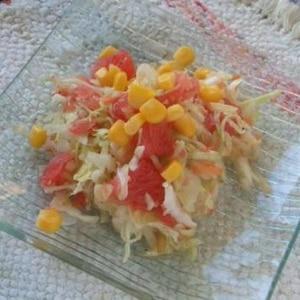 グレープフルーツでさっぱり味に☆コールスローサラダ