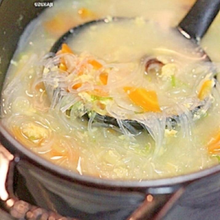 簡単ヘルシー中華はるさめスープ
