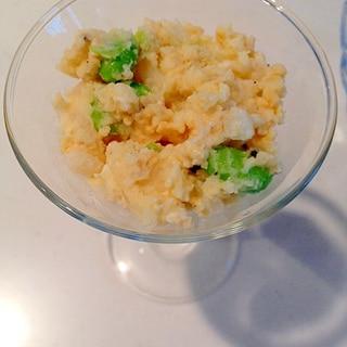 彩り豊か!枝豆と新玉ねぎのポテトサラダ