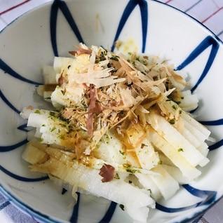 青のりと鰹節で簡単おつまみ♪長芋の短冊サラダ
