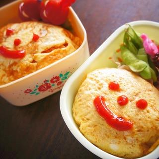お弁当にオムライス☆きれいに入れる作り方