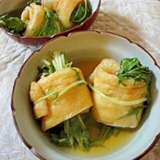 水菜の油揚げベーコン巻