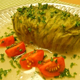 野菜たっぷり♪コンソメ味のロールレタス☆
