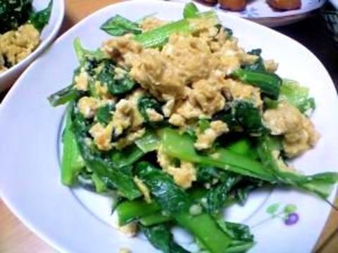 簡単おいしい!小松菜と卵のバターソテー