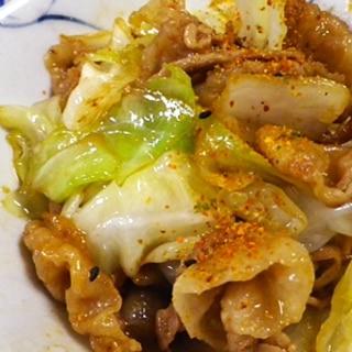 スピード料理、豚バラキャベツの生姜焼き