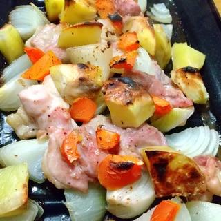 魚焼きグリル活用★チキンと野菜のグリル焼き