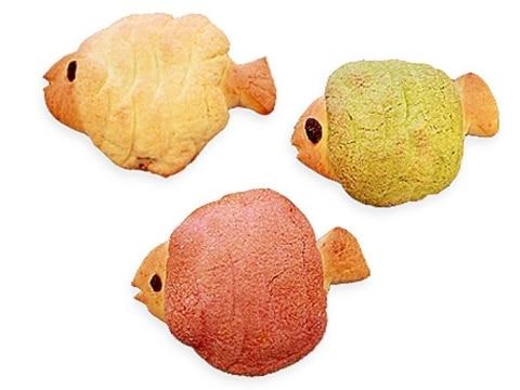 【ママパン】メロンパン(魚)