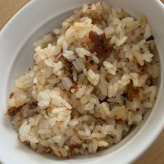 鮎甘露煮の炊き込みご飯